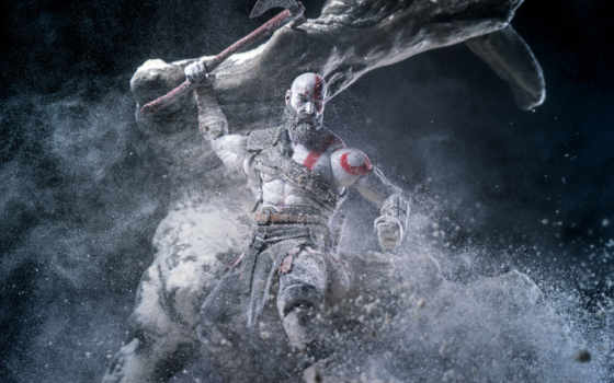 god, war, games, kratos, desktop, quadro,