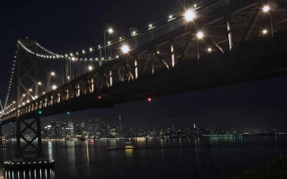 мост, ночь