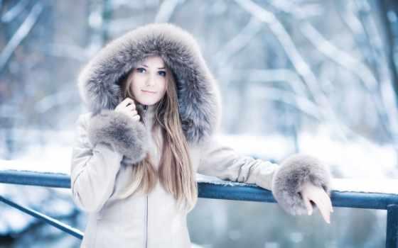 winter, девушка, капюшон