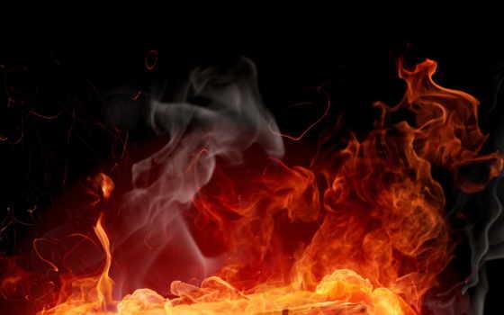 огонь, fone, черном