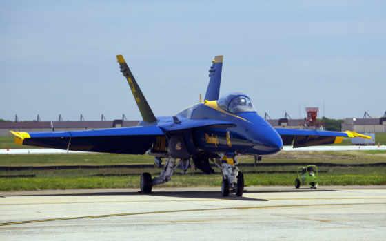 самолет, синий, истребитель