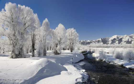 zima, priroda, снег