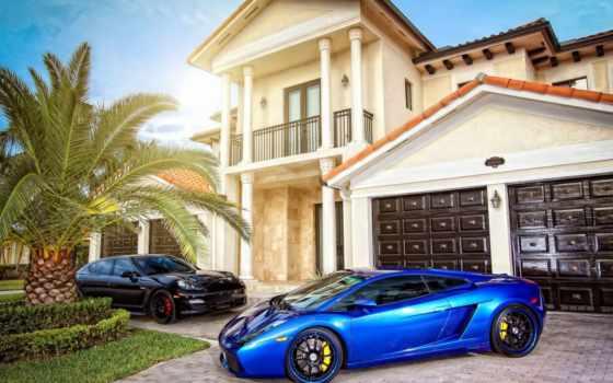 house, машины, особняк, sun, villa, lamborghini, авто, тюнинг,