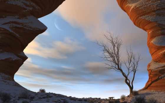 снег, пустыня, deserts, new,