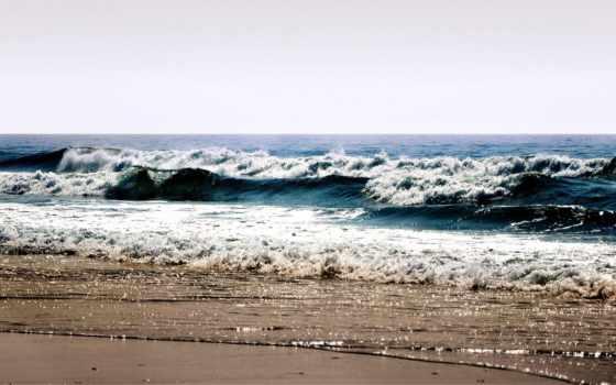 море, summer, пляж, waves, пенка, берег, water, небо, landscape, брызги, галька,