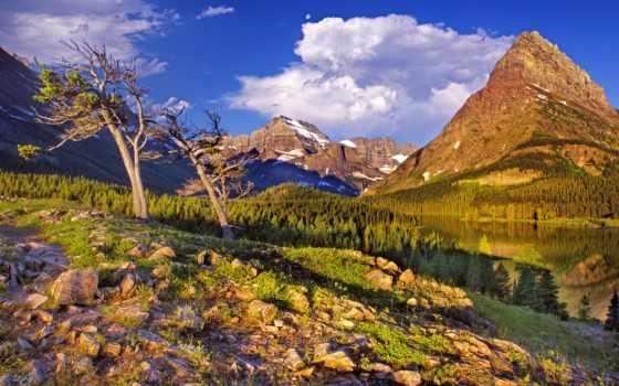 tapety, озеро, пейзажи -, закат, high, free, untitled, desktop,