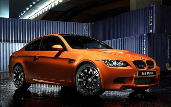 bmw, оранжевый, coupe