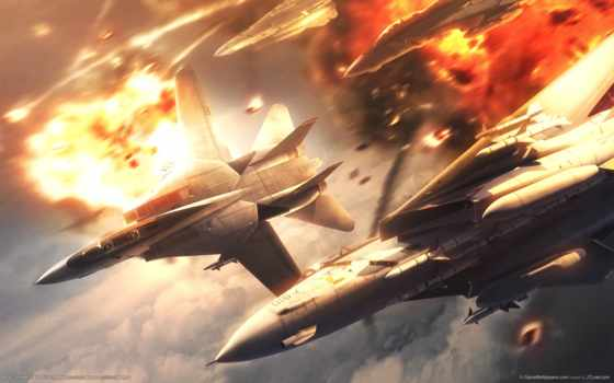 истребитель, реактивный, самолёт, огонь, ace, plane, combat, военный,