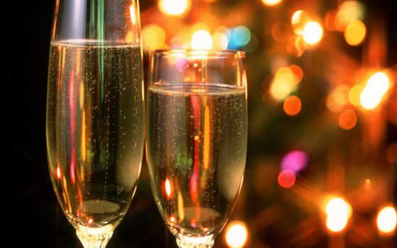 шампанское, бокалы Фон № 13688 разрешение 1920x1200