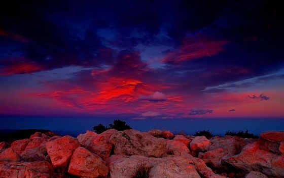 красивые, закат, закаты