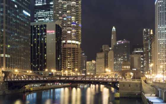 chicago, улица, кларк, widescreen, desktop, high,