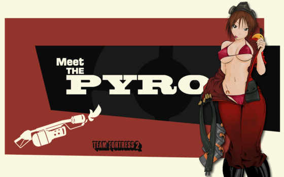 pyro, meet, team, fortress,kann, funny,