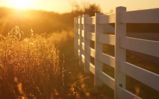 природа, забор