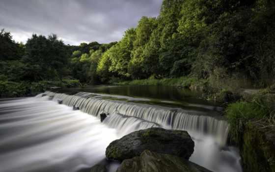природа, река, водопад