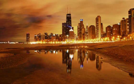 chicago, город, america, здания, небоскребы, places, hdr, самый,