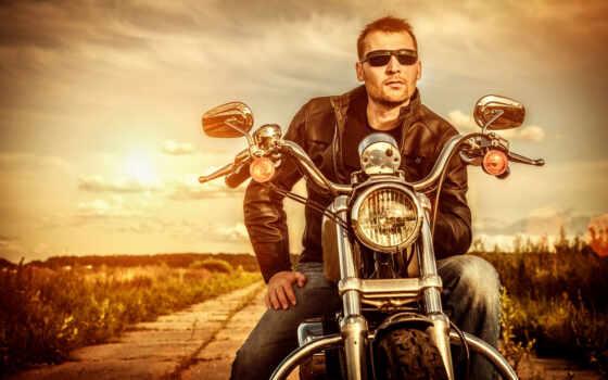 парень, мотоцикле, мотоцикл, мотоциклы, очки, шлеме, define, одинокого, кожаная, biker,