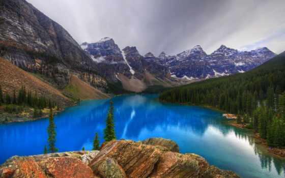 озеро, moraine, канада, mountains, альберта, природа, banff, паркс, parcul, scenery,