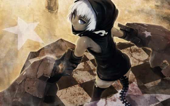 black, rock, shooter, strength, anime, аниме, girl, wallpaper, iphone, скалы, стрелок, девушка,