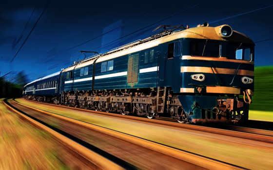поезда, коллекция, дорога, железная,