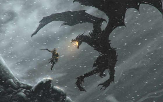 skyrim, scrolls, elder, скайрим, дракон, довакин,