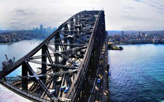 мост, sydney, гавань, harbor, german, здания, река, австралия,