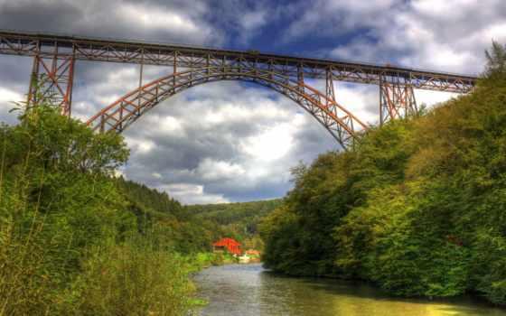 мост, природа, miriadna