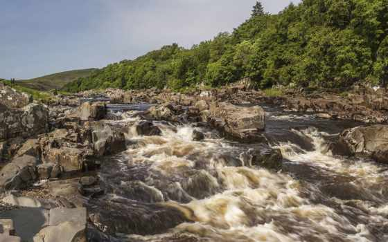 resimleri, manzara, река, whirling, top, природа, soccer,