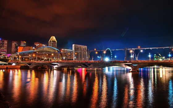 город, ночь, singapore, высотки, nights, hotel, мегаполисов, фотографий,