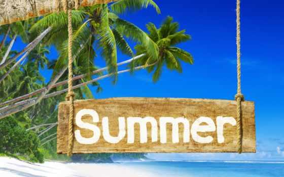 summer, море, пляж, trees, palm, рай, июнь, остров, stock,