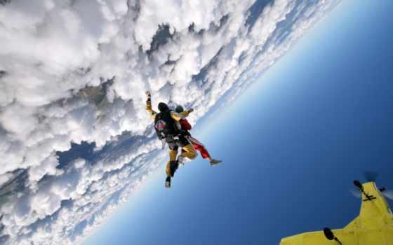 парашютом, прыжок, вольтижировка, полет, everything, самолете, но,