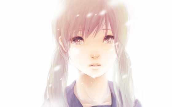 девушка, женщина, portrait, anime, flare, два,
