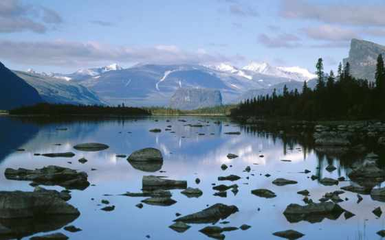 lake, national, sarek, laitaure, park, sweden, wal