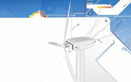 wind, turbine, abstract, white, blue