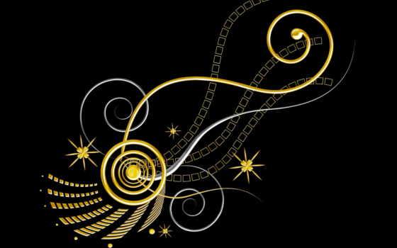 coloridos, puzzles, sobre, oro, fondos, fondo, diseños, circuria, rompecabezas, negro,