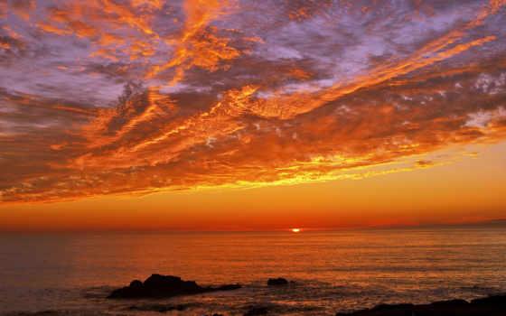 море, небо, природа, закаты, rock, рассветы, картинка, побережье, красивые,