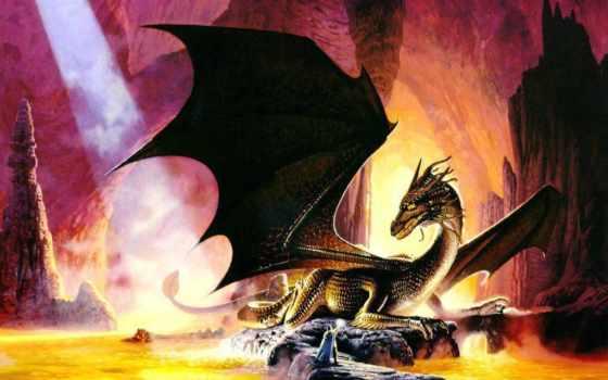 дракон, пещере, пещера, драконы,