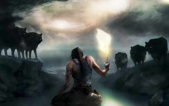 tomb, raider, волк, game, loaded, уж, see, best