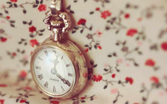 часы, макро