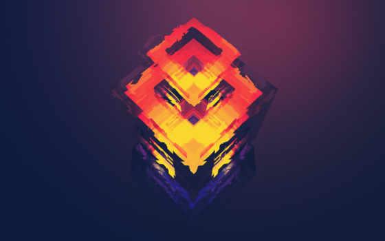 куб, треугольники