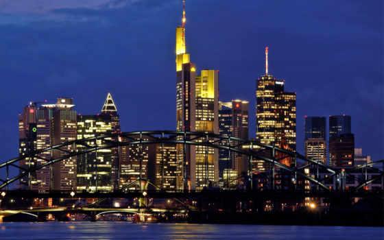 frankfurt, am, главное, германия, мэн, город,