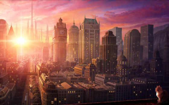 tranquility, sun, небо, улицы, кот, бесплатные,