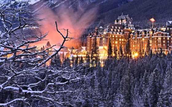 леса, winter, канадский, castle, горы, природа, города, зимой, парки, снег, flickr,