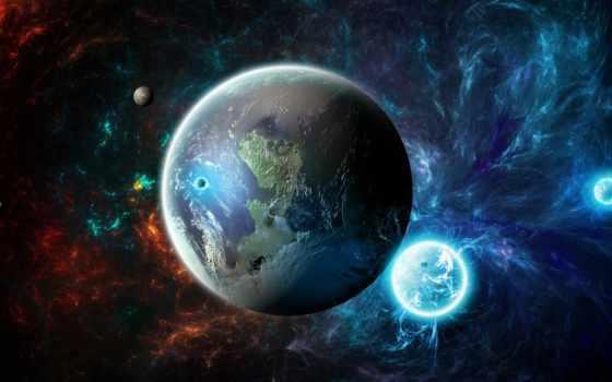 космос, cosmos, звезды, planet, land, планеты, часть,
