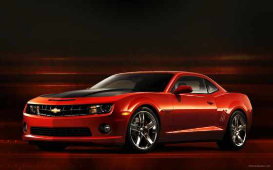chevrolet, camaro, red
