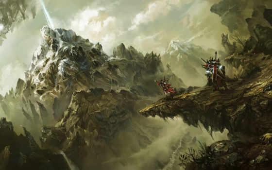 fantasy, world, sci, сказание, воин, art, warriors, games, crag,