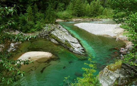 лес, река, reki, photoshop, elements, водопады, озеро, каменистым, берегом, adobe, осень,