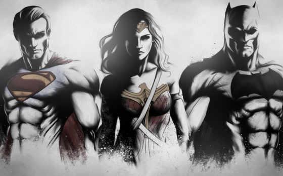 batman, superman, wonder, издание, рассвет, ultimate, justice, art, женщина,