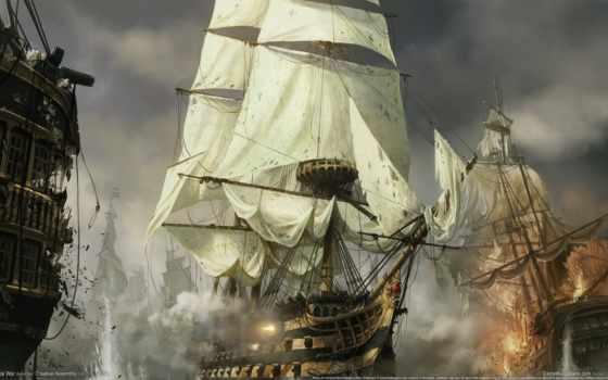 корабли, иллюстрации, кораблей, рисунки, корабль, парусники, бой, коллекции,