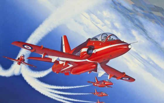 red, arrows, самолёт, royal, air, сила, лучшая, команда, коллекция, загружено,