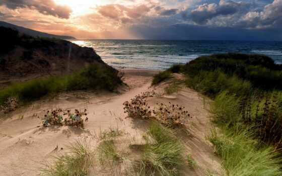 пейзаж, море, природа, plasma, china, корабль, product, берег, песок, new